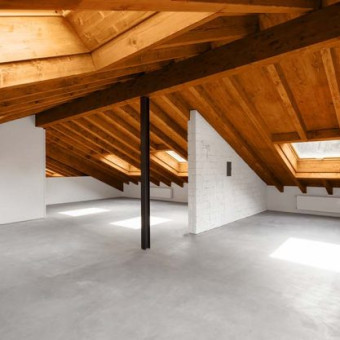 Attic open space with Ultratop Loft flooring