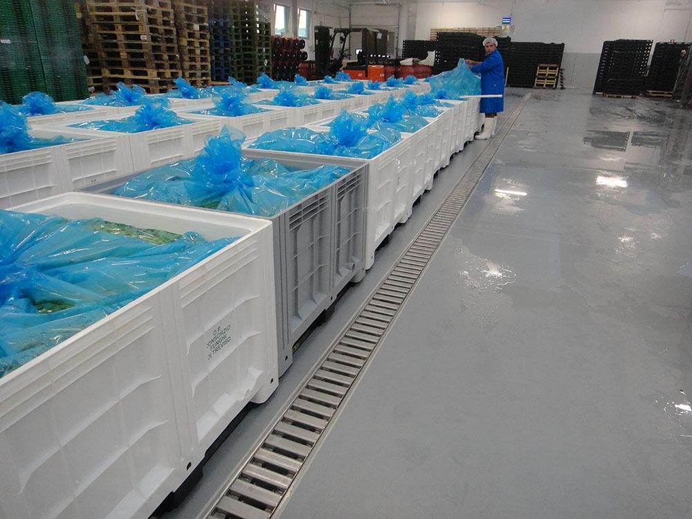 Pavimenti per laboratori alimentari e industrie alimentari prima
