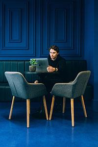 Coffee shop - Ultratop Loft dark blue