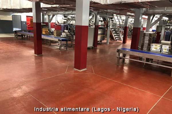 Pavimento tecnico in resina per il settore alimentare