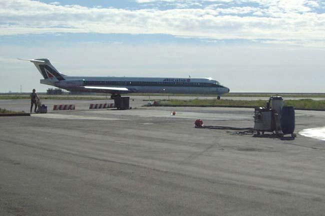 Pavimentazione in calcestruzzo per aeroporto