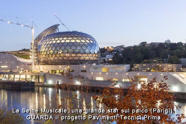 La Seine Musicale, pavimenti in resina